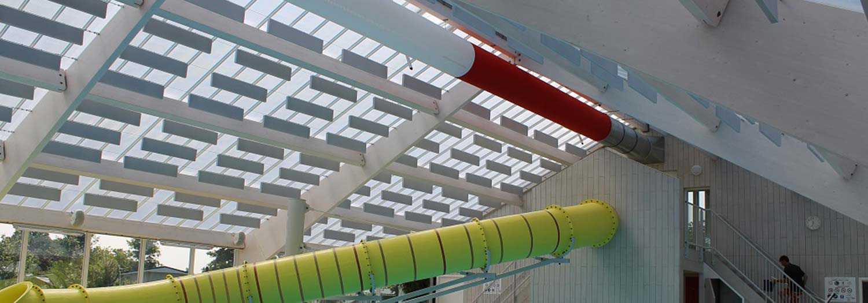 Baffles zwembad